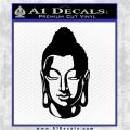 Buddah Head Decal Sticker Black Logo Emblem 120x120