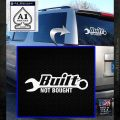 Built Not Bought DWR Decal Sticker White Emblem 120x120
