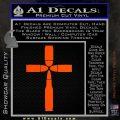 Bullet Cross Crucifix Decal Sticker D4 Orange Vinyl Emblem 120x120