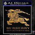 Burberry Logo Decal Sticker Metallic Gold Vinyl 120x120