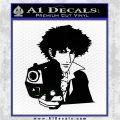 COWBOY BEBOP SPIKE GUN VINYL DECAL STICKER Black Logo Emblem 120x120