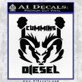 CUMMINS DIESEL RAM DODGE LOGO VINYL DECAL STICKER Black Logo Emblem 120x120