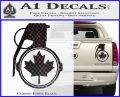 Canada Maple Leaf Grenade Decal Sticker Carbon Fiber Black 120x97