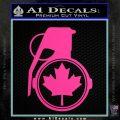 Canada Maple Leaf Grenade Decal Sticker Hot Pink Vinyl 120x120