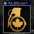 Canada Maple Leaf Grenade Decal Sticker Metallic Gold Vinyl 120x120