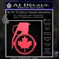 Canada Maple Leaf Grenade Decal Sticker Pink Vinyl Emblem 120x120