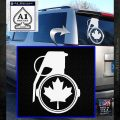 Canada Maple Leaf Grenade Decal Sticker White Emblem 120x120