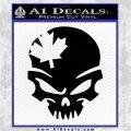Canada Skull Decal Sticker Black Logo Emblem 120x120