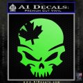 Canada Skull Decal Sticker Lime Green Vinyl 120x120