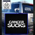 Cancer Sucks Decal Sticker White Emblem 120x120