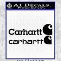 Carhartt Decal Sticker 2pk Black Logo Emblem 120x120