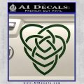 Celtic Creator Knot Decal Sticker Dark Green Vinyl 120x120