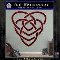 Celtic Creator Knot Decal Sticker Dark Red Vinyl 120x120