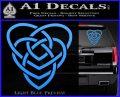 Celtic Creator Knot Decal Sticker Light Blue Vinyl 120x97