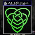 Celtic Creator Knot Decal Sticker Lime Green Vinyl 120x120