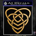 Celtic Creator Knot Decal Sticker Metallic Gold Vinyl 120x120