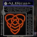 Celtic Creator Knot Decal Sticker Orange Vinyl Emblem 120x120