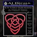 Celtic Creator Knot Decal Sticker Pink Vinyl Emblem 120x120