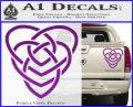 Celtic Creator Knot Decal Sticker Purple Vinyl 120x97