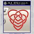 Celtic Creator Knot Decal Sticker Red Vinyl 120x120