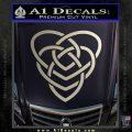 Celtic Creator Knot Decal Sticker Silver Vinyl 120x120