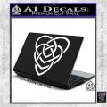 Celtic Creator Knot Decal Sticker White Vinyl Laptop 120x120