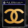 Chanel Decal Sticker CC Metallic Gold Vinyl 120x120