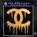 Chanel Dripping Decal Sticker Metallic Gold Vinyl 120x120