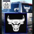 Chicago Bulls Decal Sticker DO White Emblem 120x120