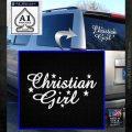 Christian Girl Vinyl Decal Sticker White Emblem 120x120