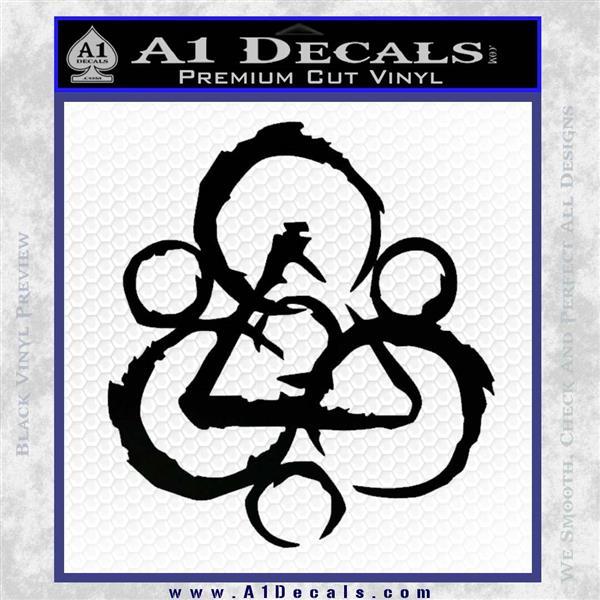 Coheed and Cambria Symbol TR Decal Sticker Black Logo Emblem
