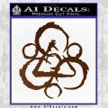 Coheed and Cambria Symbol TR Decal Sticker Brown Vinyl 120x120