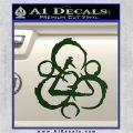 Coheed and Cambria Symbol TR Decal Sticker Dark Green Vinyl 120x120