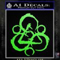 Coheed and Cambria Symbol TR Decal Sticker Lime Green Vinyl 120x120