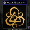 Coheed and Cambria Symbol TR Decal Sticker Metallic Gold Vinyl 120x120