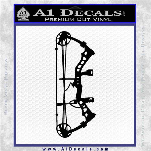 Compound Bow Decal Sticker INT Black Logo Emblem