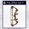 Compound Bow Decal Sticker INT Brown Vinyl 120x120