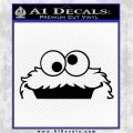 Cookie Monster Peeking Decal Sticker Black Logo Emblem 120x120
