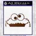 Cookie Monster Peeking Decal Sticker Brown Vinyl 120x120