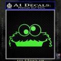 Cookie Monster Peeking Decal Sticker Lime Green Vinyl 120x120