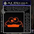 Cookie Monster Peeking Decal Sticker Orange Vinyl Emblem 120x120