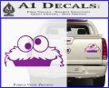 Cookie Monster Peeking Decal Sticker Purple Vinyl 120x97