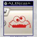 Cookie Monster Peeking Decal Sticker Red Vinyl 120x120