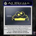 Cookie Monster Peeking Decal Sticker Yelllow Vinyl 120x120