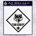 Cub Scouts Logo Decal Sticker Black Logo Emblem 120x120