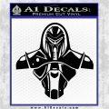 Cylon Armor Decal Sticker Battlestar Galactice BSG Black Logo Emblem 120x120