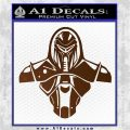 Cylon Armor Decal Sticker Battlestar Galactice BSG Brown Vinyl 120x120