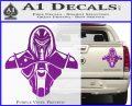 Cylon Armor Decal Sticker Battlestar Galactice BSG Purple Vinyl 120x97