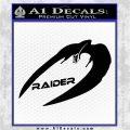 Cylon Raider Decal Sticker Battlestar BSG D4 Black Logo Emblem 120x120