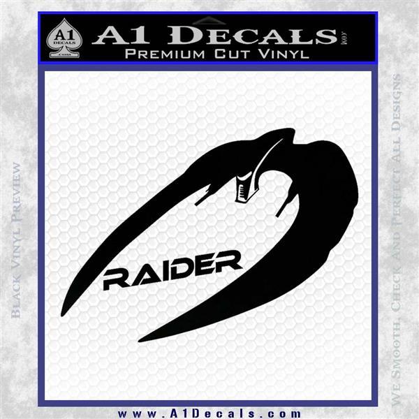 Cylon Raider Decal Sticker Battlestar BSG D4 Black Logo Emblem